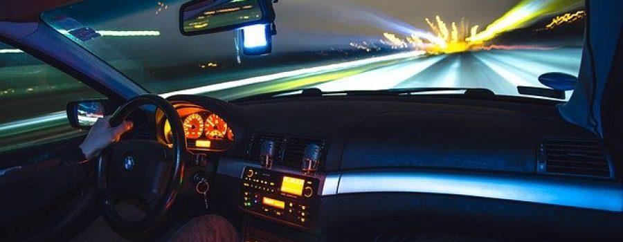 Anreise bei Nacht